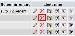 Удаление поля в PHPMyAdmin